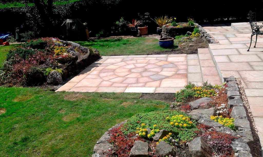 Patio design and landscaping
