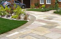 Edinburgh paving, patio, pathway and landscape design